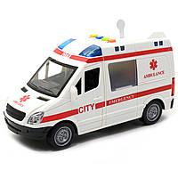 Машинка іграшкова Автопром Швидка допомога зі світловими і звуковими ефектами, 22х8х12 см (7669ABCD), фото 5