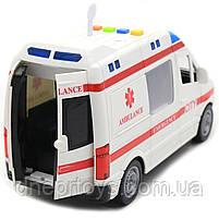 Машинка іграшкова Автопром Швидка допомога зі світловими і звуковими ефектами, 22х8х12 см (7669ABCD), фото 6