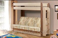Двох'ярусне ліжко з розкладним спальним місцем ДКД-0505
