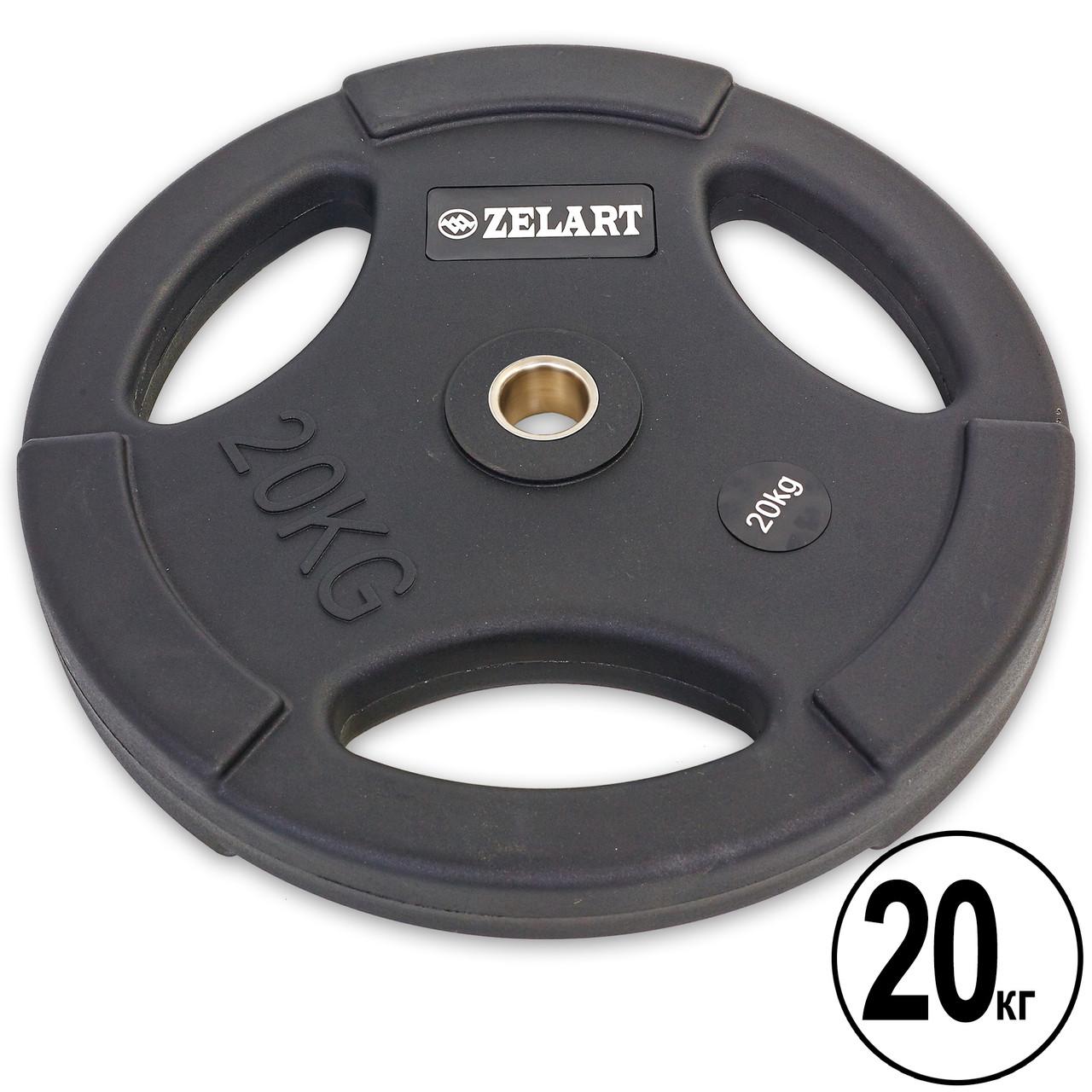 Млинці 28мм 20кг (диски) поліуретанові Zelart