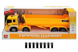 Інерційна машинка Wenyi самоскид Вантажівка CITY Servise WY577A, світло, звук, масштаб 1:16