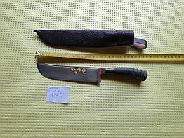 Нож. Пчак большой-шеф. Рог, широкая рукоять, гарда олово гравировка. ШХ-15
