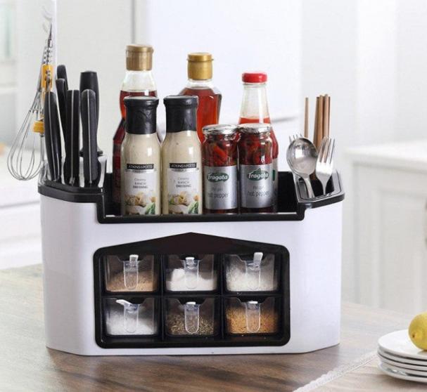 Багатофункціональний кухонний органайзер для приладів і спецій