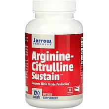"""Аргінін і цитрулін Jarrow Formulas """"Arginine-Citrulline Sustain"""" (120 таблеток)"""