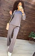 Женский крутой костюмчик с клёш брюками  (пять цветов, 42-44 и 46-48), фото 1