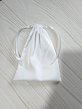 Подарунковий мішечок з шовку Армані 13*18 см (шовковий мішечок, мішечок для прикрас) колір - білий