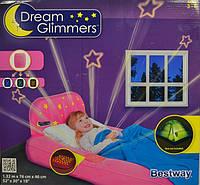 Надувной матрас Bestway 67496B (Голубая) (132х76х46 см.) надувная кровать