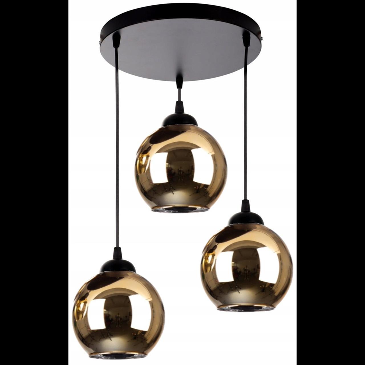 Люстра подвсная на 3 лампи 29-8874/3A BK+GD