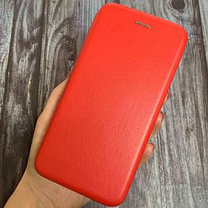Чехол книга для Vivo Y15 с эко кожи с магнитом подставкой книжка на телефон виво у15 красная STN