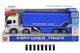Інерційна пластикова машинка Wenyi Вантажівка CITY Servise WY576B, світло, звук, масштаб 1:16