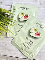 Тканинна маска для обличчя bioaqua avocado niacinome з екстрактом авокадо 25 g