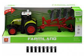 Інерційна пластикова машинка Трактор WY900С, світло, звук, масштаб 1:16