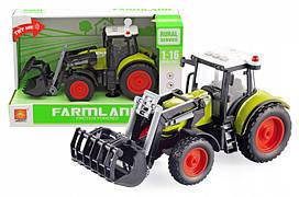Інерційна пластикова машинка Трактор WY901, світло, звук, масштаб 1:16
