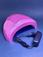 Лампа для ногтей led/uv Sun One голограмма розовая 48 вт