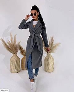 Женское Пальто кашемир на подкладке под пояс 42-44,46-48,50-52