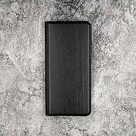 Чохол-книжка для Xiaomi Poco X3 бічній з натуральної шкіри, Gelius, Vertical Lines, Чорний