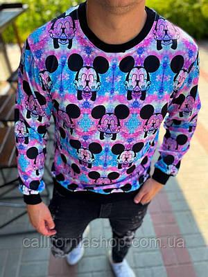 Свитшот мужской яркий с Микки Маусом Mickey Mouse