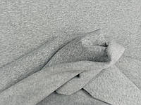 Светло серый меланж. Трехнитка на флисе , ширина 1,8 м ; 250 г/м², фото 1