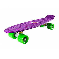 Пенниборд (скейтборд) CROSSRIDE CROSSY Фиолетовый