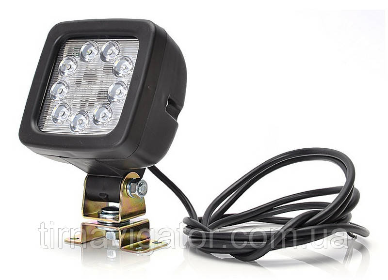 Фара-прожектор (лампа заднього ходу) LED 100*100 (9-LED 1300Lm)