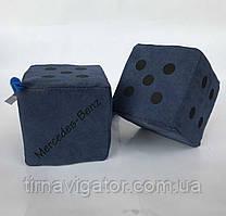Кубики декор Mercedes 10*10 Букви сині (2шт)