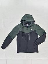 Куртка-вітрівка чоловіча комбінована PUMA replik стильна розмір 48-56 купити оптом зі складу 7 км Одеса