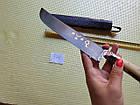 Нож узбекский кухонный. Ручная работа. Узбекский пчак г. Чуст. Сталь ШХ-15. Большой узбекский нож., фото 8
