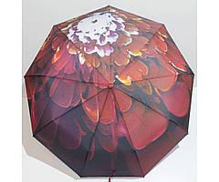 Жіночий парасольку автомат 3 складання FLAGMAN Антиветер 9 спиць