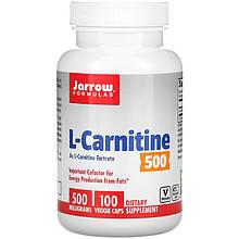 """Тартрат L-карнітин Jarrow Formulas """"L-Carnitine"""" 500 мг (100 капсул)"""