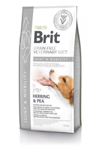 Сухой корм Brit GF VetDiets Dog Mobility 12 кг для собак всех пород для суставов с лососем с горохом и гречкой