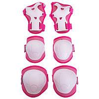 Комплект захисту для катання на роликах (дитячий) р. S, М біло/салатовий