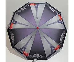 Жіночий парасольку автомат 3 складання FLAGMAN Антиветер 10 спиць