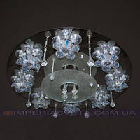 Люстра галогенная IMPERIA восьмиламповая с пультом дистанционного управления и светодиодной подсветкой LUX-352663