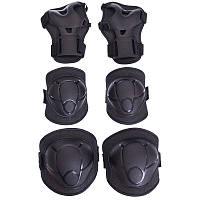Комплект захисту для катання на роликах, скейтах, самокатах дитяча чорна р. S, M