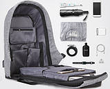 Рюкзак Bobby Бобби с защитой от карманников антивор USB разъем, фото 2