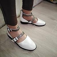 Туфлі, босоніжки жіночі літні білі на низькому ходу,розміри 36,37,38,40