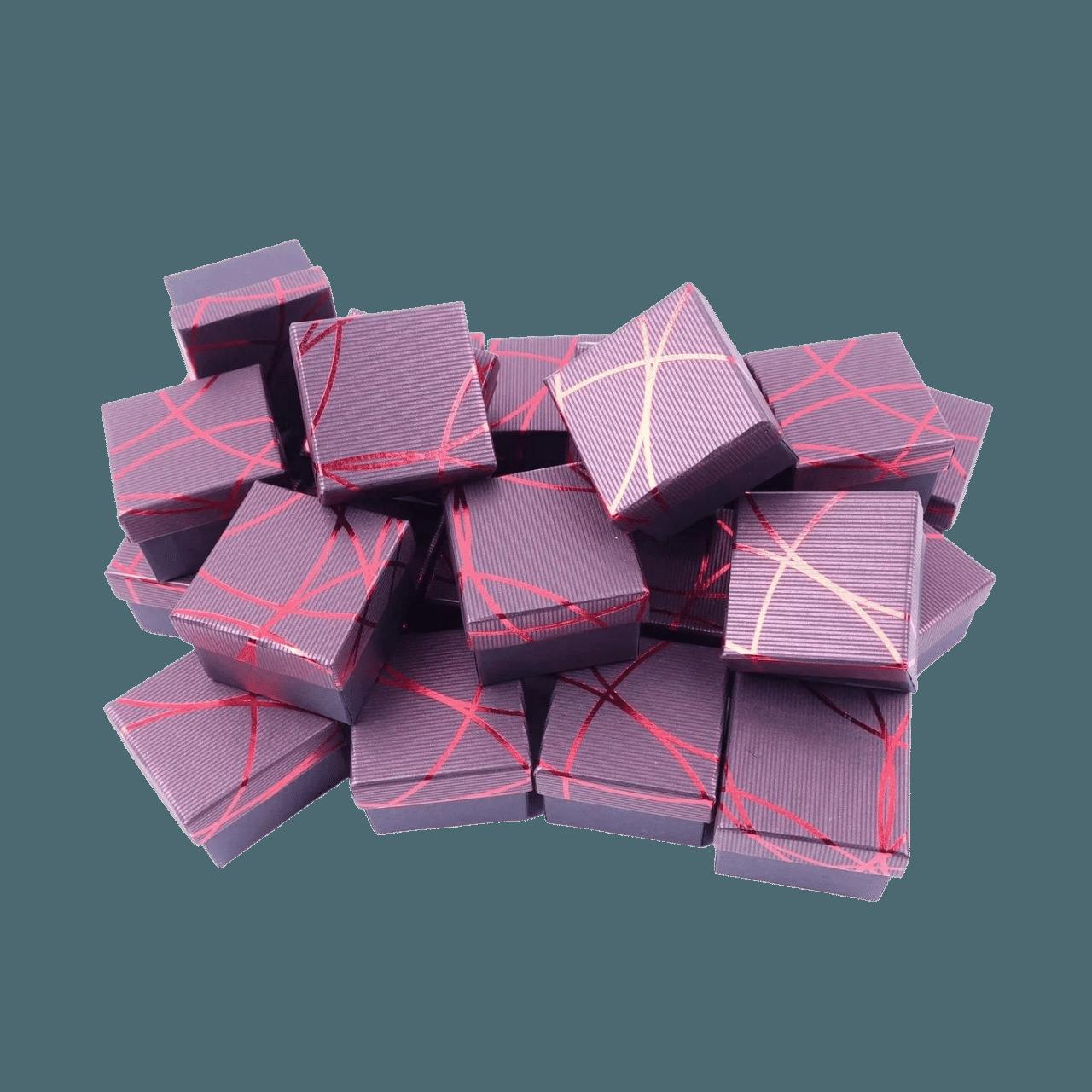 Коробочки для колец Бордовый 2