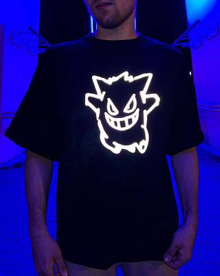 Чоловіча чорна футболка оверсайз з малюнком бавовна Haipp Black Beast