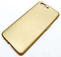 Чохол силіконовий карбон для OnePlus 5 Золотистий