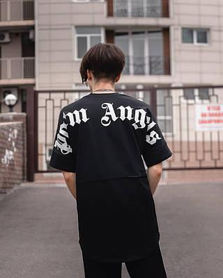 Чоловіча чорна футболка оверсайз з малюнком бавовна Palm Big print