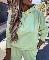 Стильный женский спортивный костюм из двунити с капюшоном (Норма), фото 5