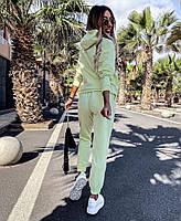 Стильный женский спортивный костюм из двунити с капюшоном (Норма), фото 6