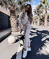 Стильный женский спортивный костюм из двунити с капюшоном (Норма), фото 8