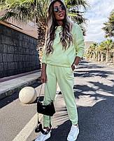Стильный женский спортивный костюм из двунити с капюшоном (Норма), фото 9