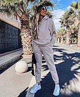 Стильный женский спортивный костюм из двунити с капюшоном (Норма), фото 10