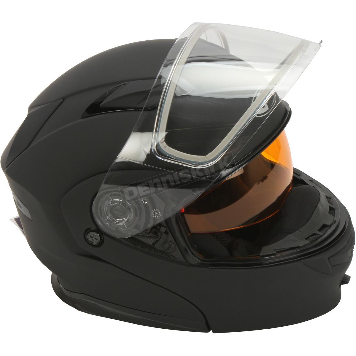 Шлем GMax Matte Black MD01S модуляр с двойным визором