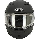 Шлем GMax Matte Black MD01S модуляр с двойным визором, фото 2