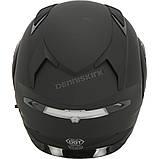 Шлем GMax Matte Black MD01S модуляр с двойным визором, фото 3