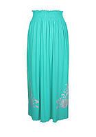 Длинная юбка размер 46 - 64,узор БАРВИНОК,поливискоза