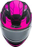 Шлем GMax Pink/Black MD01S модуляр с двойным визором, фото 2